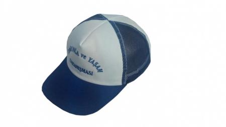 Mavi Fileli Şapka
