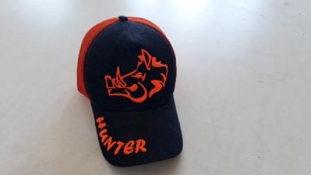 Turuncu Fileli Avcı Şapkası