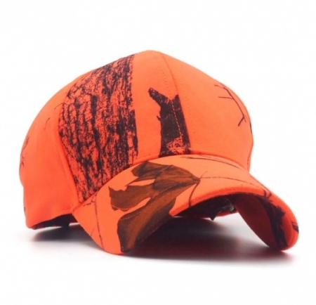 Turuncu Orman Desenli Avcı Şapkası